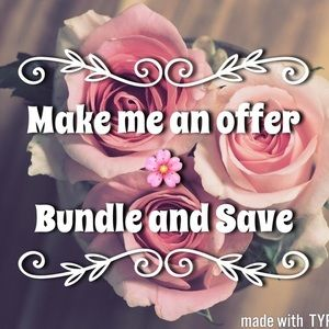 Make me an offer- Bundle and save- No trades-